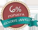 6% popusta